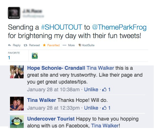 By creating useful, interesting content every day, Undercover Tourist's social mediums are now a trusted source for family vacation planning. When the community trusts, they take action and share the message with their network, expanding Undercover Tourist's.<br /><br />We love making people smile one message at a time.